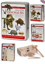 Educational Tin GIFT set Book Fun Activity SPACE BUGS Human body DINOSAURS NEW