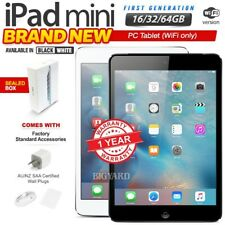 New & Sealed APPLE iPad Mini 1st Gen Black White 16 32 64GB PC Tablet(WiFi Only)