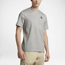 NikeLab ESSENTIALS MEN'S T-SHIRT Single-Knit Jersey, Grey Heather - Size S Or XL