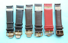 Leather Watch Straps Various Colours & Sizes 18,19,20,22,24,26,28mm