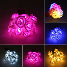 Fairy String Lights Rose Flower 10 LED Battery Operated Decorative Home Party