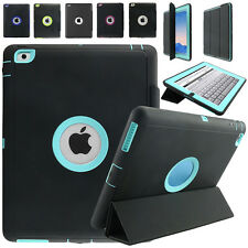 Silicone Hard Case Cover w/Screen Protector Film For Apple iPad 2-4 Shockproof