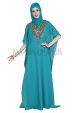 NEW GEORGETTE FANCY FARASHA ARABIAN ISLAMIC COCKTAIL GOWN PARTY  DRESS 5309