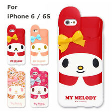 3D My Melody Ribbon Pink White Flower iPhone 6 / 6S  Soft Case Sanrio Japan