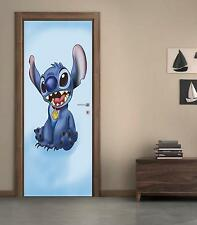 Stitch DOOR WRAP Decal Wall Sticker Mural Personalized NAME Disney Lilo D115