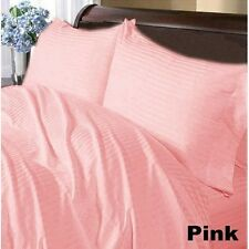 Pink Stripe Complete Bedding Collection 1000 TC 100%Egyptian Cotton Queen Size
