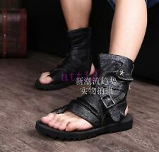Flip Flops Sandal Leather Mens Ankle Boot Gladiator Ankle Boot Buckle Hot Shoes
