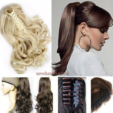 Claw Pony tail clip on Extensions Hairpiece Mega Thick Hair Extension as human