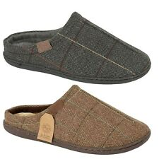 Mens Warm Comfort Slip On Fleece Lined Mules Slippers Shoes Size 7 8 9 10 11 12