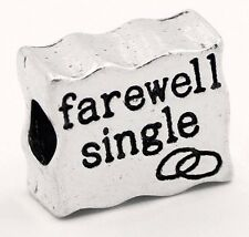 Farewell Single Engagement Gift Marriage Bead for Silver European Charm Bracelet