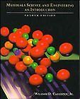 Materials Science and Engineering: An Introduction, Callister, William D., Used;
