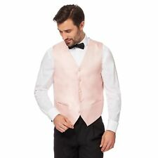 Black Tie Mens Light Pink Textured Waistcoat From Debenhams