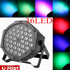 36 LED 1W RGB Stage Light Flat Par Lamp Club For DJ Disco Party Lighting AU Plug