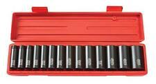 Impact Socket Set  1/2 Inch Drive Deep  Inch Free Shipping