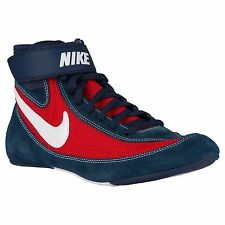 NIKE SPEEDSWEEP VII 7 MENS WRESTLING SHOES NAVY / RED / WHITE