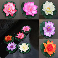 1x Fake Lotus Water Lily Plant Decor Artificial Yard Pond Float Flower