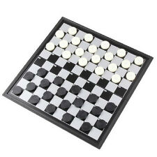 Magnetic Chess Board Set Travel Box Game Chessboard Folding Checkers Portable