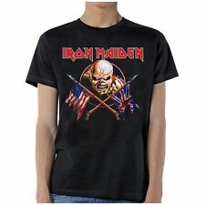 Iron Maiden: Crossed Flags T-Shirt  Free Shipping  New  Official