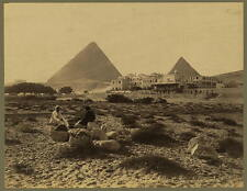Mena House Hotel, 1880's, Pyramids at Giza, Egypt