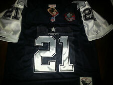 Brand New! Dallas Cowboys #21 Deion Sanders Throwback HOF Patch Jersey Mens XL