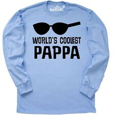 Inktastic Worlds Coolest Pappa Fathers Day Long Sleeve T-Shirt Best Gift Cool