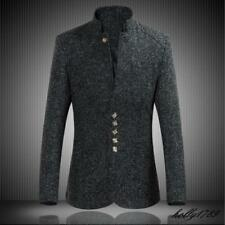 Mens Tang tunic suit stand collar Chinese style coat outwears tops jacket