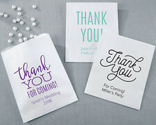 White Personalized Thank You Wedding Goodie Candy Buffet Favor Bags Lot Q37484