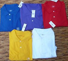 SUN RIVER CLOTHING CO. BIG & TALL MENS BRIGHT COLOR COTTON POLO SHIRTS LIST $30