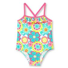 OP Baby Girl Ruffle Trim 1 Piece Swimsuit, Bubble Pink NWT