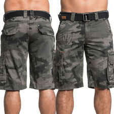 Affliction Great General Belt Included Mens Knee Cargo Shorts Army Green Camo 40