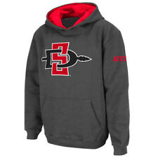 Stadium Athletic San Diego State Aztecs Youth Charcoal Big Logo Pullover Hoodie