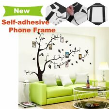 8x Photo Frames Birds Tree Wall Stickers Family Art Home Decor Removable Quality