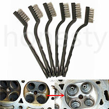 1/6PCS Steel Brush Set Small Cleaning Brushes Wire Rust Sparks Wheels Scrub 7''