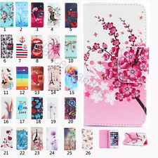 Colorful Leather Wallet Card holder cover Flip Stand Case for iPhone 5 6s&Plus
