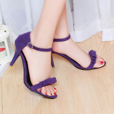 Women Summer Ankle Strap High Heels Sandals Bow Sexy Ladies Party Shoes Stiletto