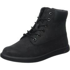 Timberland Groveton 6 Inch Lace Black Nubuck Junior Ankle Boots