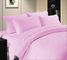 1000TC 100%EGYPTIAN COTTON DUVET COVER SET COLLECTION USSIZE PINK SOLID