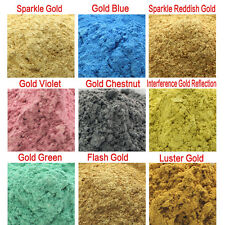 10g Gold Type Cosmetic Natural Mica for Soap/Bath Bombs/Eyeshadow/Lipsticks