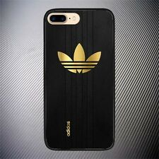 Hot Adidas Gold Carbon Logo Custom Print On Hard Case For iPhone 7, 7 Plus