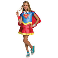 Childrens fancy dress DC Super Hero Girls Supergirl Deluxe Size S-L 3-10 Years