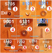 11kinds 10pcs Stainless Steel Leather Craft Master Stamping Stamp Punch Tool  -D