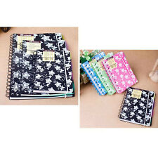 A6/A5 Spiral Coil Plastic Cover Notebook Travel Diary Journal Note Memo Pad #