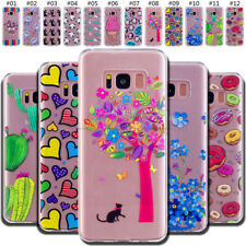 For Samsung Rubber Soft Skin Shockproof Back TPU Silicone Protective Case Cover