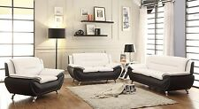 Modern Style Contemporary Bonded Leather Sofa & Loveseat 2 Piece Set Living Room