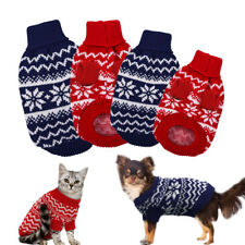 Dog Sweater Knitted Jumper Polo Neck Winter Warm Pet Puppy Cat Clothes Apparel
