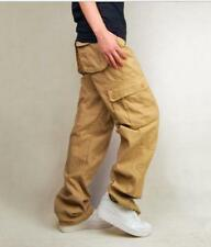 Hot Sale Loose Fit Casual Cargo New Overalls Baggy Mens Pants Trousers All US Sz