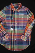 NEW Boys Kids Polo by Ralph Lauren Button Down Plaid Flannel Plaid Shirt M L