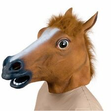 Horse Head Mask Latex Halloween Party Animal Costume Prop Cosplay Full Zoo Toys