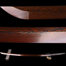 Folded Steel Red Blade Full Tang Sharp For Japanese Swords KATANA Can Cut Bamboo