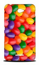 RAINBOW CANDY JELLY BEAN HARD CASE COVER FOR SONY XPERIA E4